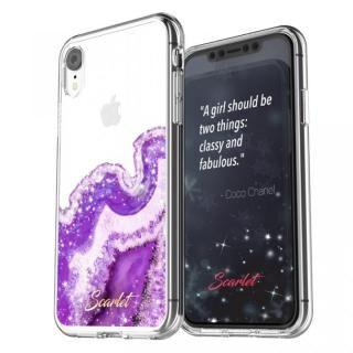 iPhone XR ケース Scarlet(スカーレット) AGATE(アゲート) スマホケース パープル iPhone XR