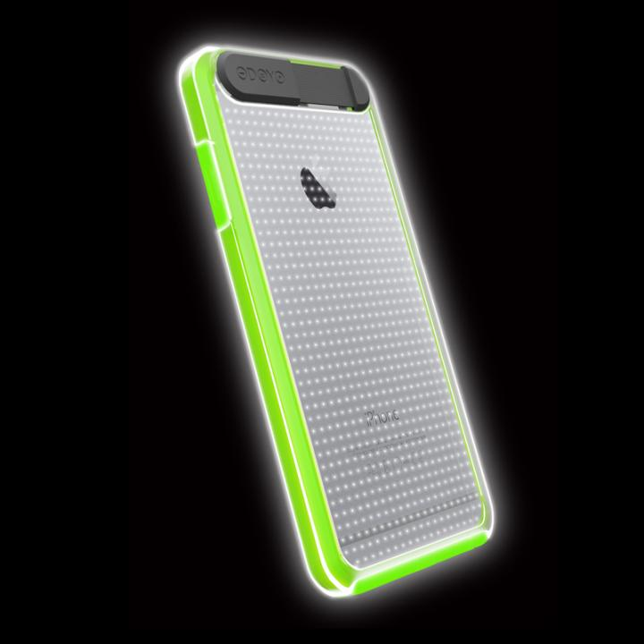 【iPhone6ケース】ケースが光る!ODOYO Shine Edge ハードケース グリーン iPhone 6_0