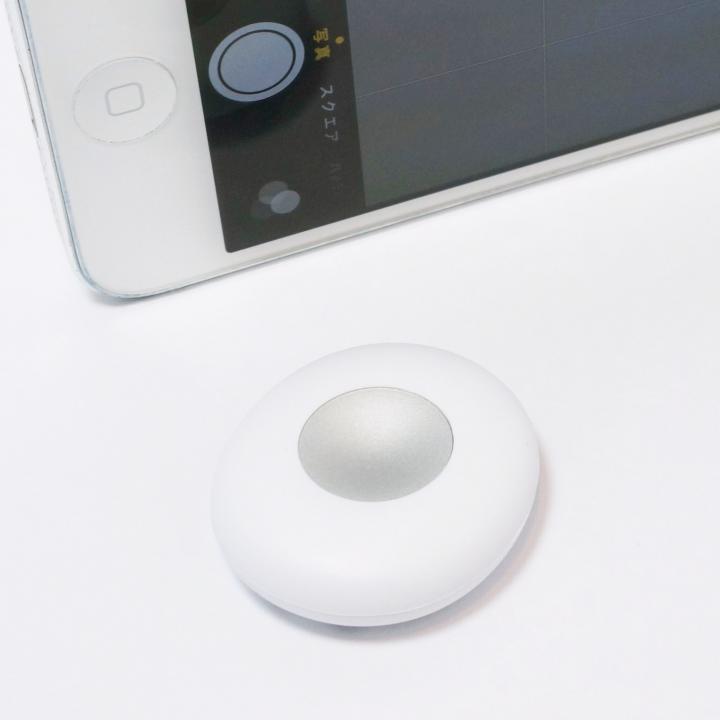 i-Selfie Bluetoothカメラリモコン ホワイト ※専用アプリ不要_0