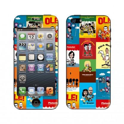 スキンシール Colorful junky iPhone SE/5s/5