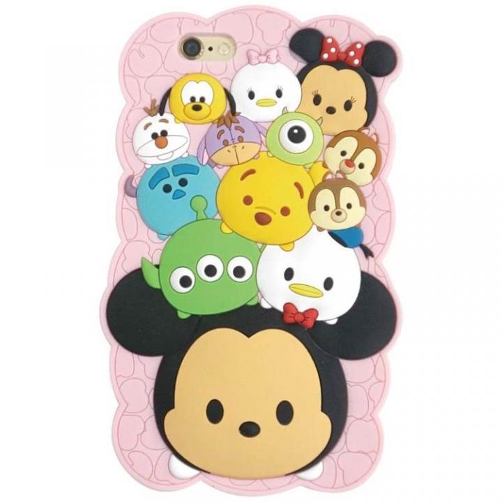 【iPhone6ケース】ディズニー ツムツム シリコン ピンク iPhone 6s/6_0