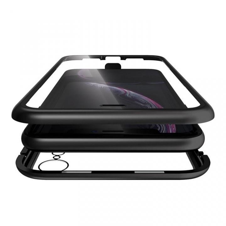 iPhone XR ケース Monolith Alluminio(モノリス アルミニオ) ブラック 両面強化ガラス+アルミバンパー iPhone XR【5月下旬】_0