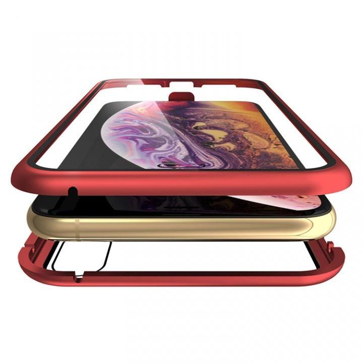 iPhone XS Max ケース Monolith Alluminio Rosso(モノリス アルミニオ ロッソ)/レッド 両面強化ガラス+アルミバンパー for iPhone XS Max_0