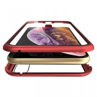 iPhone XS Max ケース Monolith Alluminio Rosso(モノリス アルミニオ ロッソ)/レッド 両面強化ガラス+アルミバンパー for iPhone XS Max