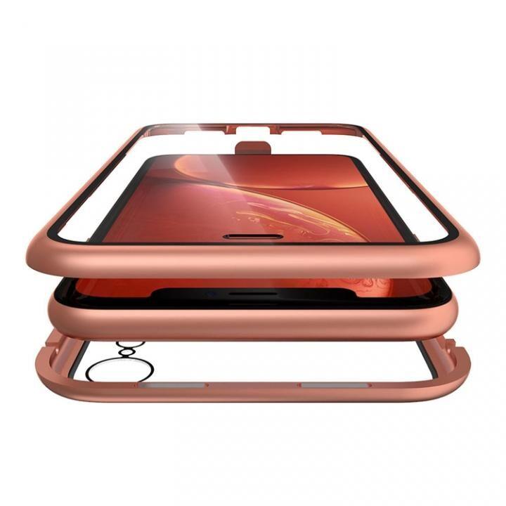 iPhone XR ケース Monolith Alluminio(モノリス アルミニオ) コーラルオレンジ 両面強化ガラス+アルミバンパー iPhone XR_0