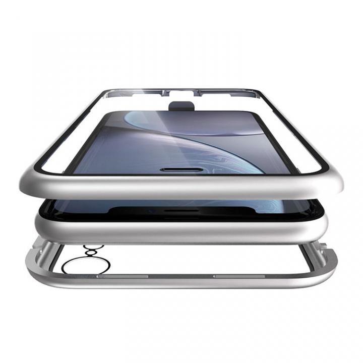 iPhone XR ケース Monolith Alluminio(モノリス アルミニオ) シルバー 両面強化ガラス+アルミバンパー iPhone XR_0