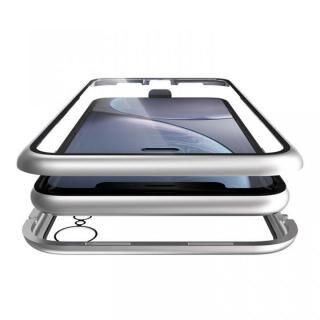 iPhone XR ケース Monolith Alluminio(モノリス アルミニオ) シルバー 両面強化ガラス+アルミバンパー iPhone XR