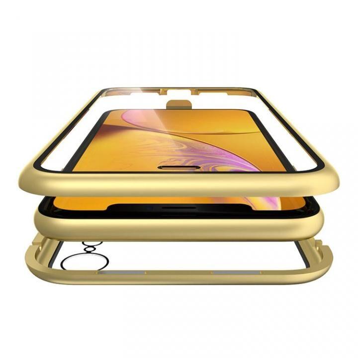 iPhone XR ケース Monolith Alluminio(モノリス アルミニオ) ゴールド 両面強化ガラス+アルミバンパー iPhone XR_0
