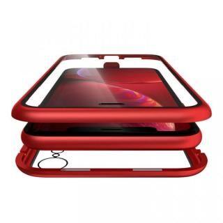 iPhone XR ケース Monolith Alluminio(モノリス アルミニオ) レッド 両面強化ガラス+アルミバンパー iPhone XR
