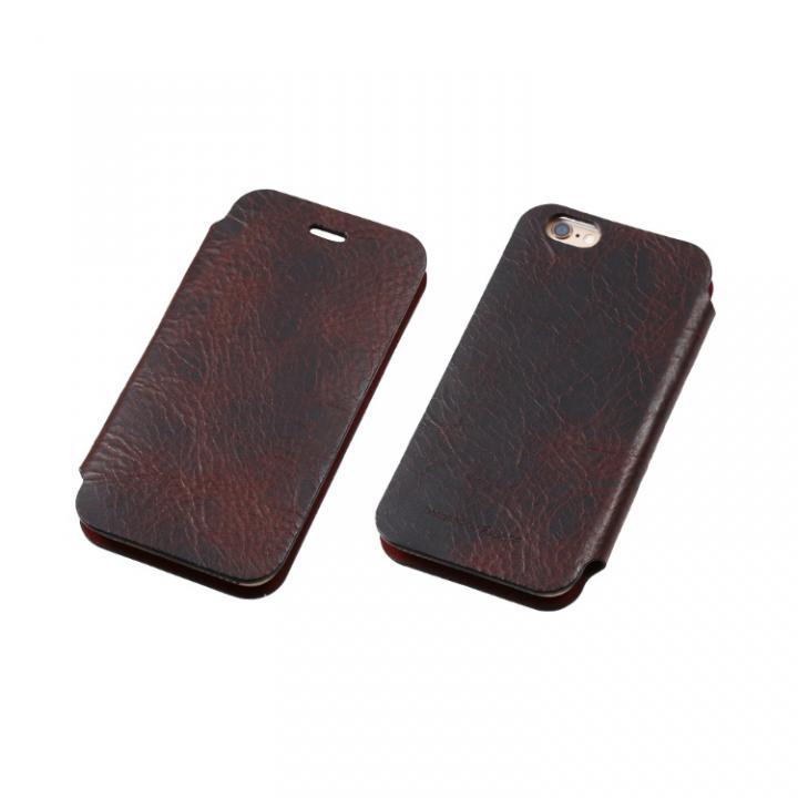 [数量限定]Deff 天然牛革手帳型ケース プレミアム MASK チョコレートブラック iPhone 6 Plus