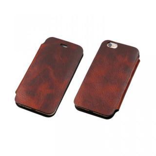 [数量限定]Deff 天然牛革手帳型ケース プレミアム MASK ブラウン iPhone 6 Plus