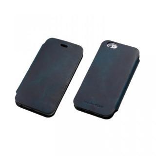 [数量限定]Deff 天然牛革手帳型ケース プレミアム MASK ディープブルー iPhone 6 Plus