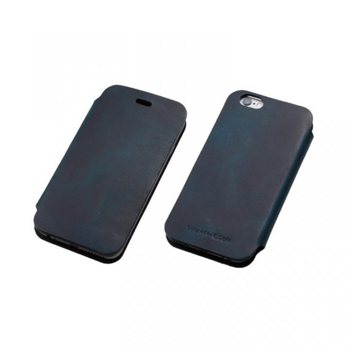 iPhone6 ケース [数量限定]Deff 天然牛革手帳型ケース プレミアム MASK ディープブルー iPhone 6_0
