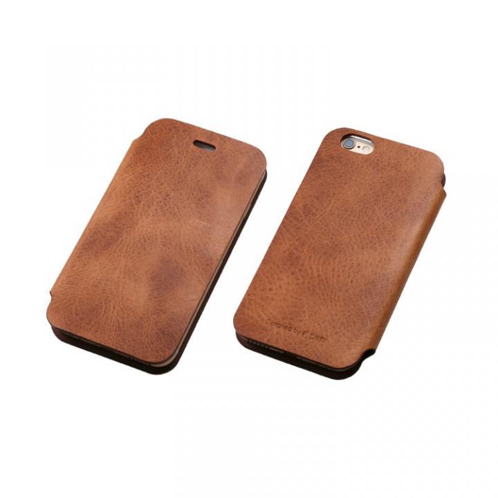 [数量限定]Deff 天然牛革手帳型ケース プレミアム MASK キャメル iPhone 6