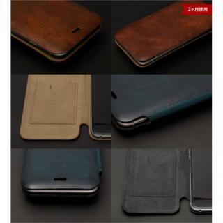 【iPhone6ケース】[数量限定]Deff 天然牛革手帳型ケース プレミアム MASK チョコレートブラック iPhone 6_6