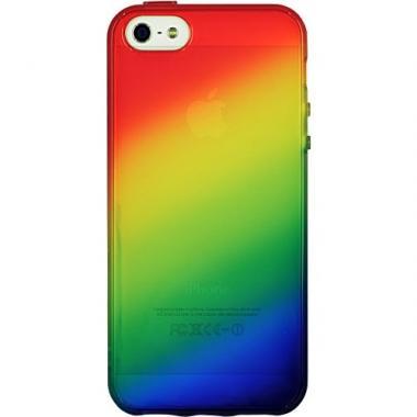 iPhone SE/5s/5 ケース iPhone 5 ケース 「染-SO・ME-」虹