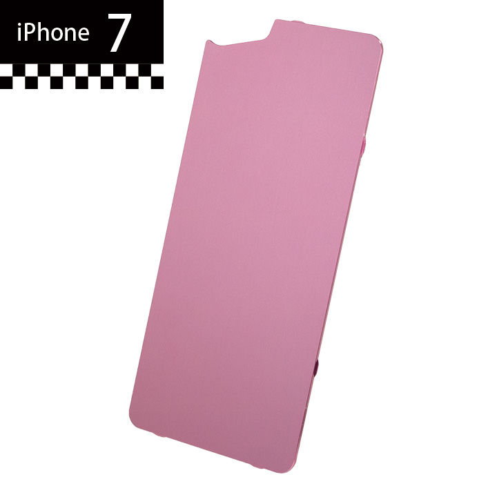 iPhone7 GILD design×AppBank Store ソリッドバンパー用 背面アルミパネル ローズゴールド iPhone 7_0