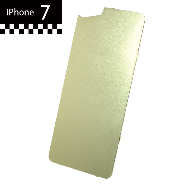 iPhone7 GILD design×AppBank Store ソリッドバンパー用 背面アルミパネル シャンパンゴールド iPhone 7_0
