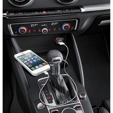 id America Dual USB Car Charger 【Green】_1
