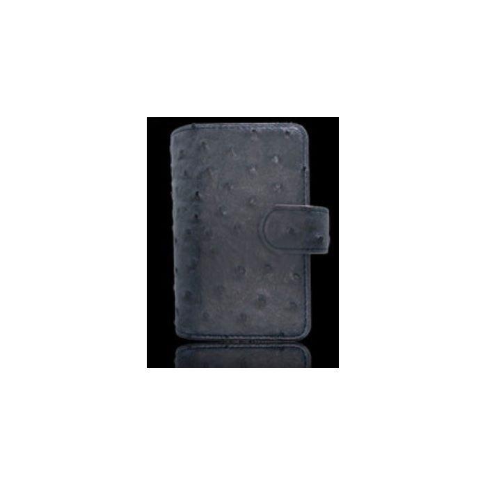 iQOSケース オーストリッチ 手帳型 グレイ