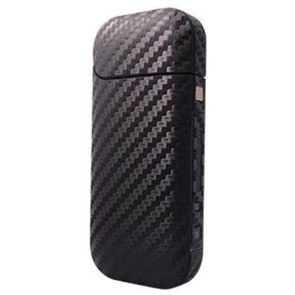 iQOS用ステッカー カーボン調 光沢ブラック