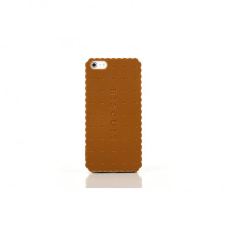 """Sweets Case  iPhone5 """"Biscuit Hard"""" キャメル"""