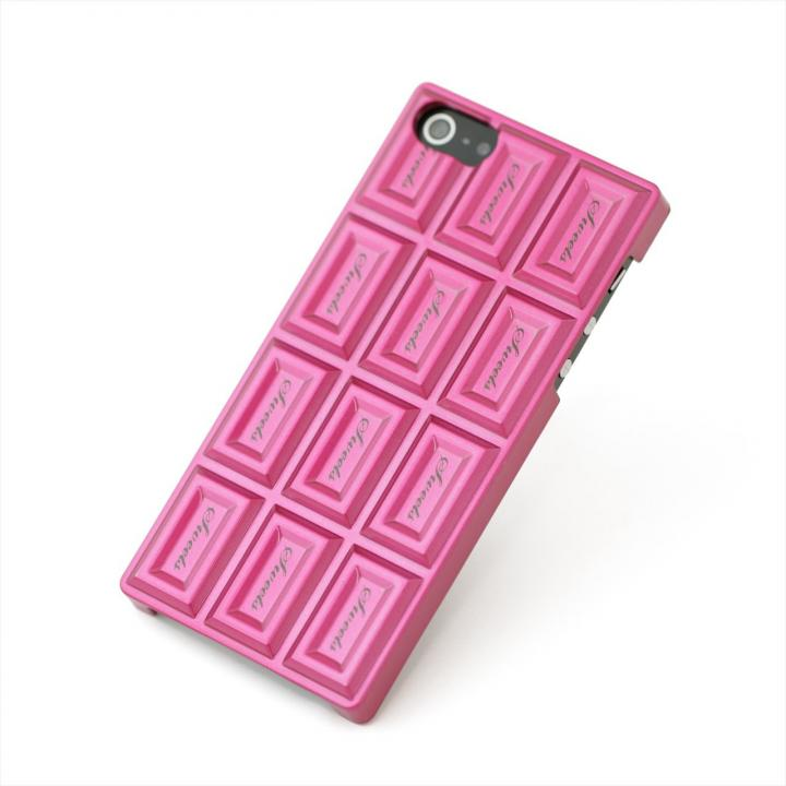 iPhone SE/5s/5 ケース Sweets Case  iPhone5 'Chocolate Hard' ピンク_0