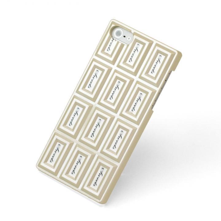 【iPhone SE/5s/5ケース】Sweets Case  iPhone5 'Chocolate Hard' ホワイト_0