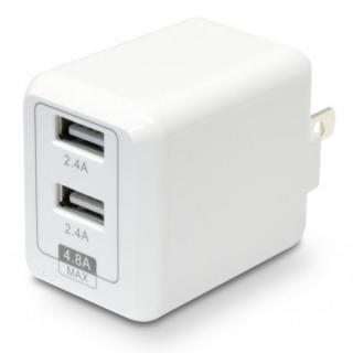 USB充電器 cubeタイプ248 ホワイト