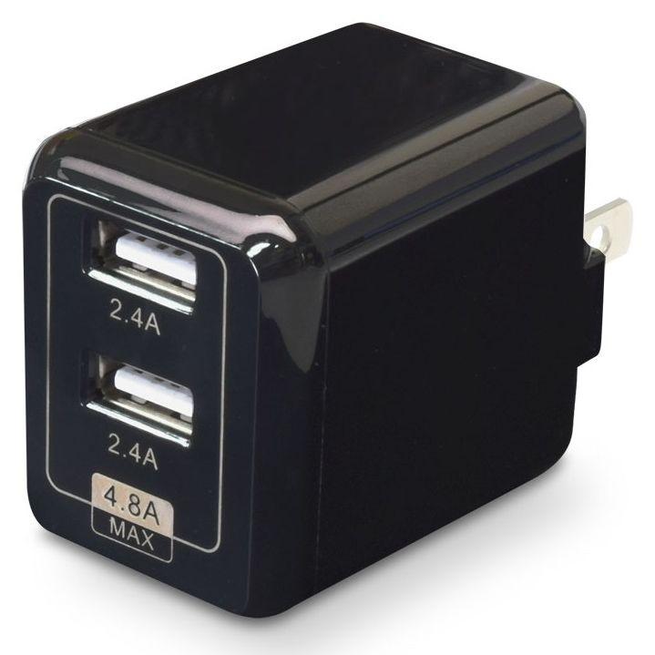 USB充電器 cubeタイプ248 ブラック