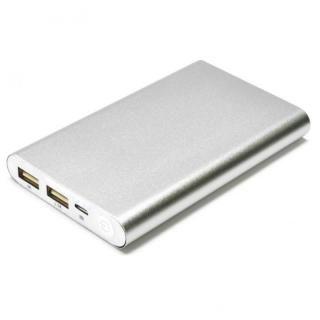 [8000mAh]Mobile Power Bank モバイルバッテリー シルバー