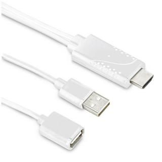 iPhone HDMI ミラーリングケーブル ホワイト