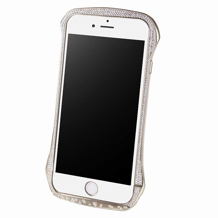 iPhone6 ケース DRACO design スワロフスキー アルミバンパー シルバー iPhone 6_0