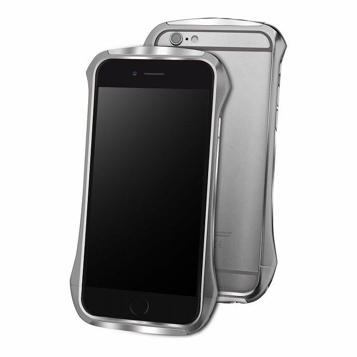 【iPhone6ケース】DRACO design Hand Polish アルミバンパー グレイ iPhone 6_0