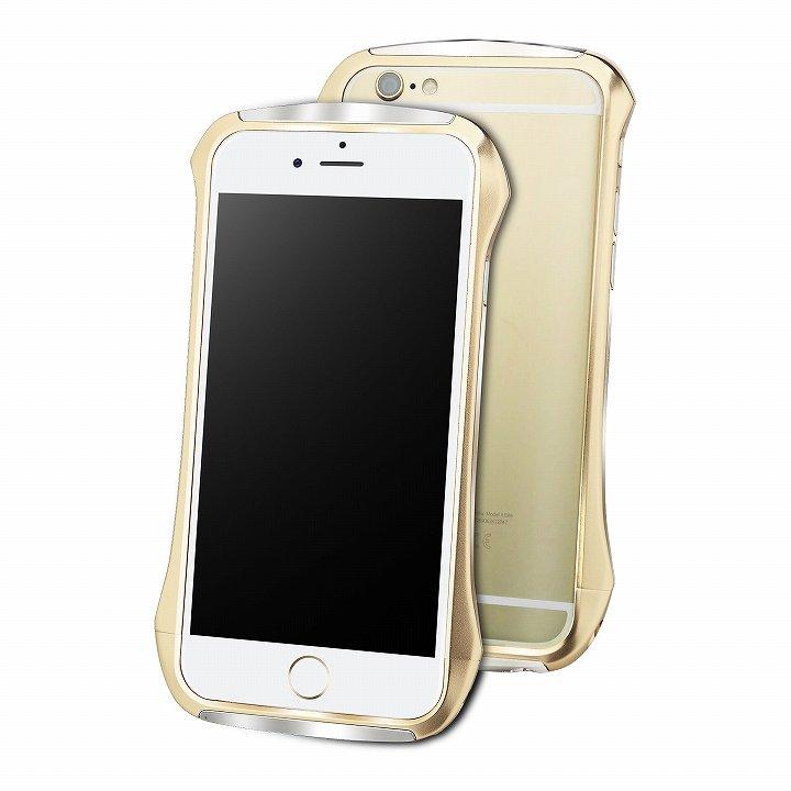【iPhone6ケース】DRACO design Hand Polish アルミバンパー ゴールド iPhone 6_0