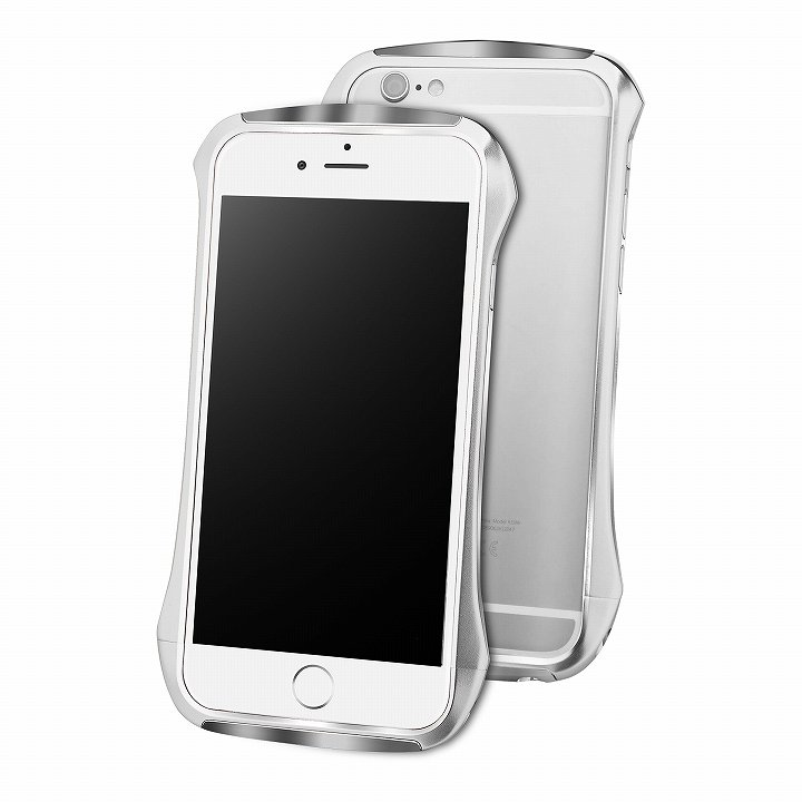 iPhone6 ケース DRACO design Hand Polish アルミバンパー シルバー iPhone 6_0