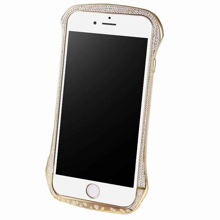 【iPhone6ケース】DRACO design スワロフスキー アルミバンパー ゴールド iPhone 6_0