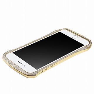 【iPhone6ケース】DRACO design スワロフスキー アルミバンパー ゴールド iPhone 6_3