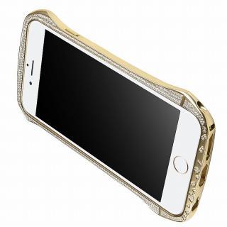 【iPhone6ケース】DRACO design スワロフスキー アルミバンパー ゴールド iPhone 6_4