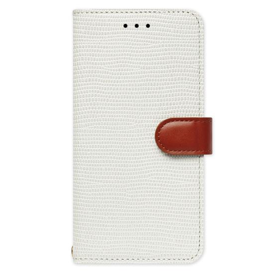【iPhone6s/6ケース】天然牛革手帳型ケース Viola ホワイト iPhone 6s/6_0