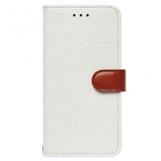 【iPhone6s ケース】天然牛革手帳型ケース Viola ホワイト iPhone 6s/6