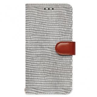 天然牛革手帳型ケース Viola モノクローム iPhone 6s Plus/6 Plus