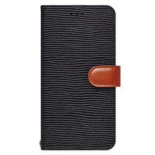天然牛革手帳型ケース Viola ブラック iPhone 6s/6