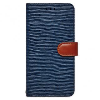 天然牛革手帳型ケース Viola ネイビー iPhone 6s Plus/6 Plus