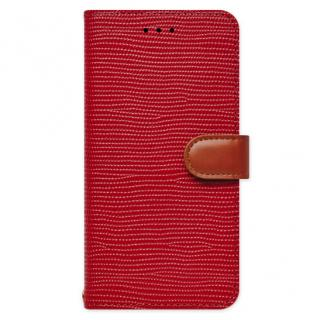 天然牛革手帳型ケース Viola レッド iPhone 6s Plus/6 Plus