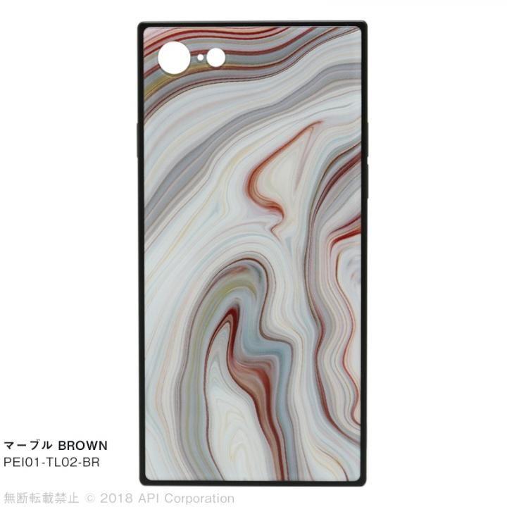 iPhone8/7 ケース EYLE TILE iPhoneケース マーブル/ブラウン iPhone SE 第2世代/8/7_0