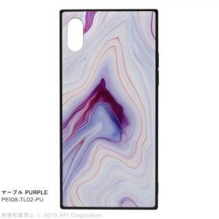 iPhone XS/X ケース EYLE TILE iPhoneケース マーブル/パープル iPhone XS/X