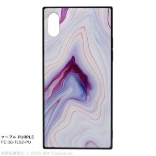 EYLE TILE iPhoneケース マーブル/パープル iPhone X