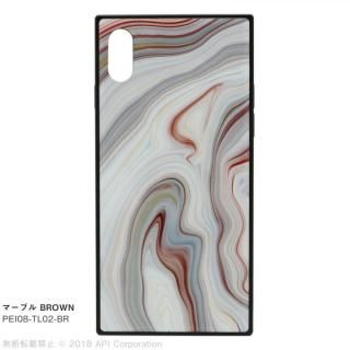 iPhone XS/X ケース EYLE TILE iPhoneケース マーブル/ブラウン iPhone XS/X