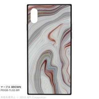 EYLE TILE iPhoneケース マーブル/ブラウン iPhone XS/X